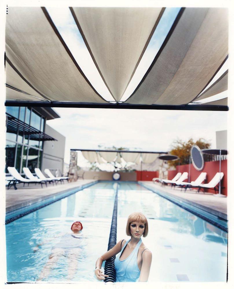 "Bridget & I: Pool , c-print, 24"" x 20"" framed, $1,200"