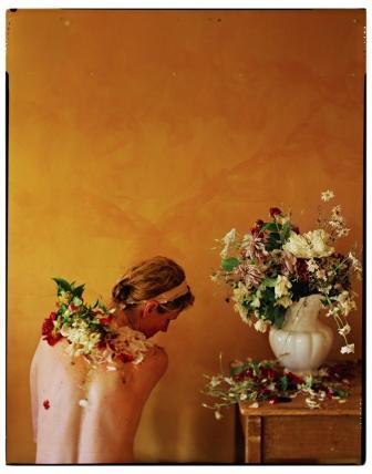 """Bridget & I: Flowers , digital archival inkjet print, 24"""" x 20"""" framed, $1,200"""