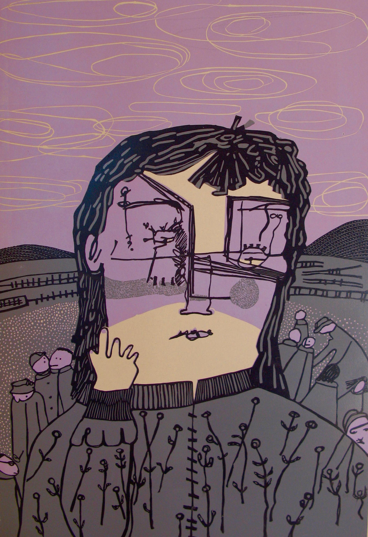Coco Berkman , Under the Sky , reduction linoleum print