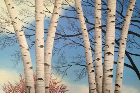 C.J. Lori , Seven Sisters , oil on canvas