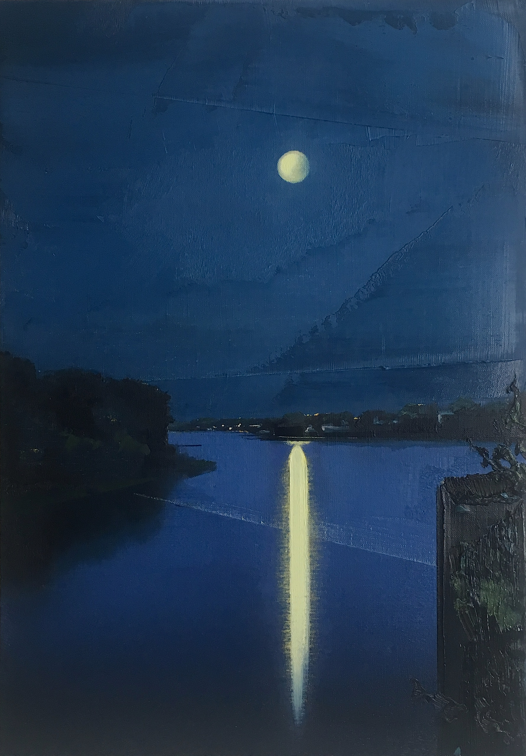 "Untitled/Nocturne (1730) , oil on linen, 21"" x 15"" framed, sold"