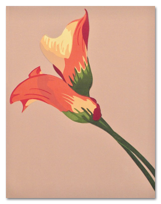 """Entwined Lilies (4/40) , serigraph, 20"""" x 17"""" framed, $365; unframed 15"""" x 11"""", $165"""