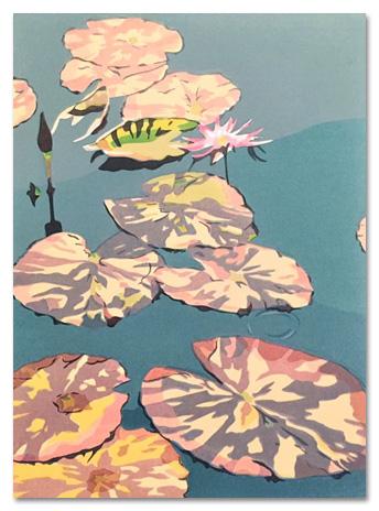 """Botanic Gardens: Water Lilies   (10/40) , serigraph, 18"""" x 13"""", $290"""