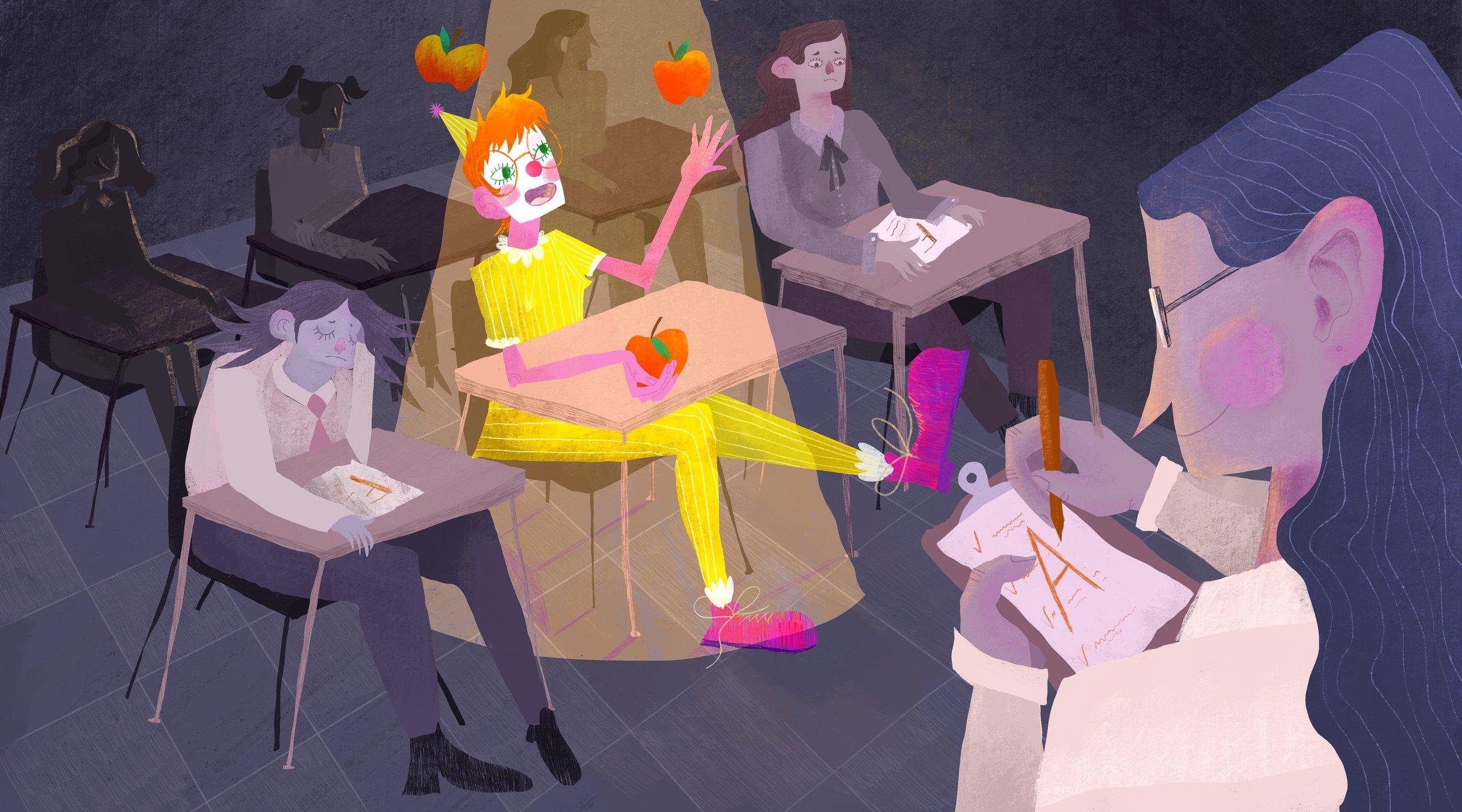 Class Clown , digital print