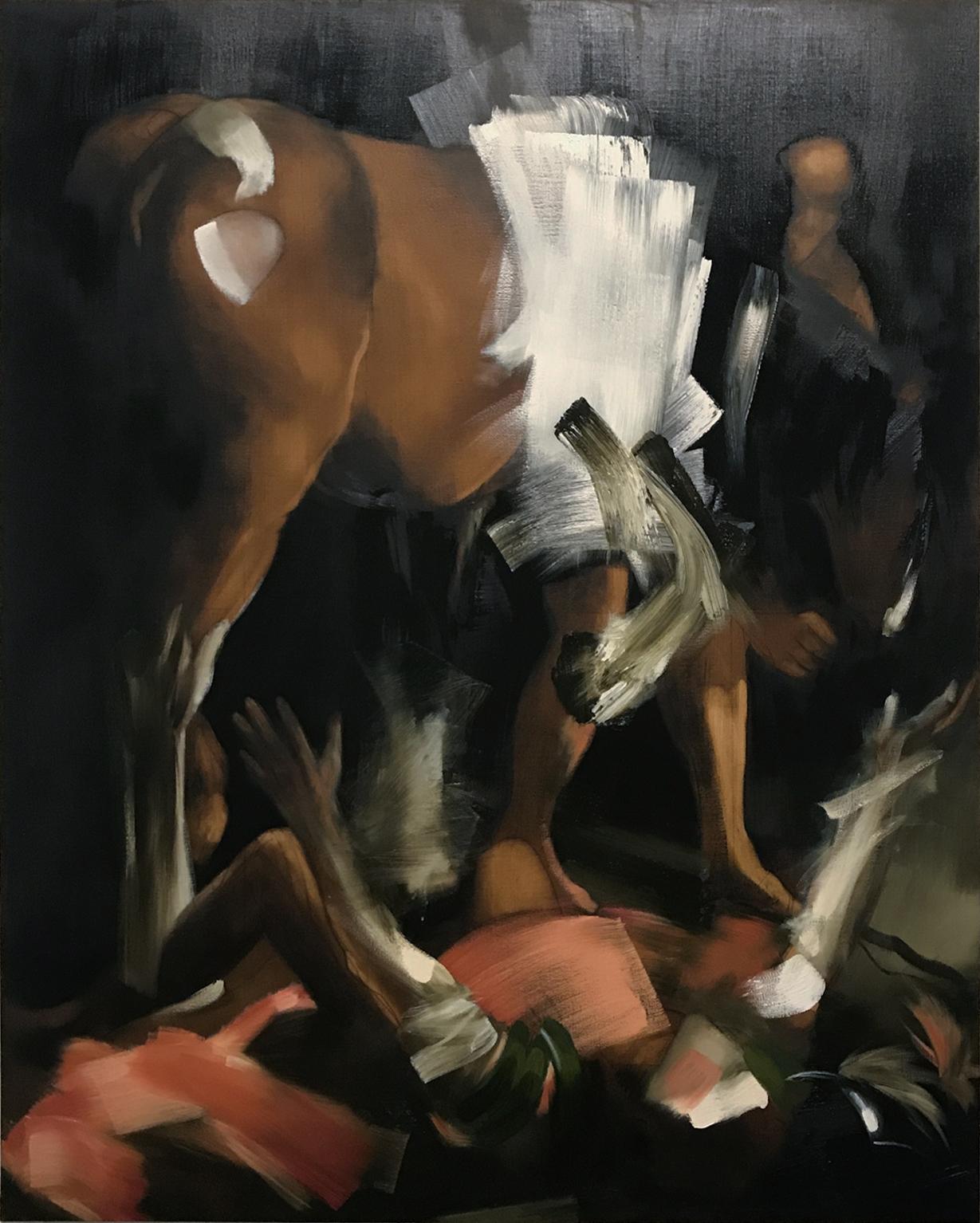 Elise Ansel, Damascus , oil on linen