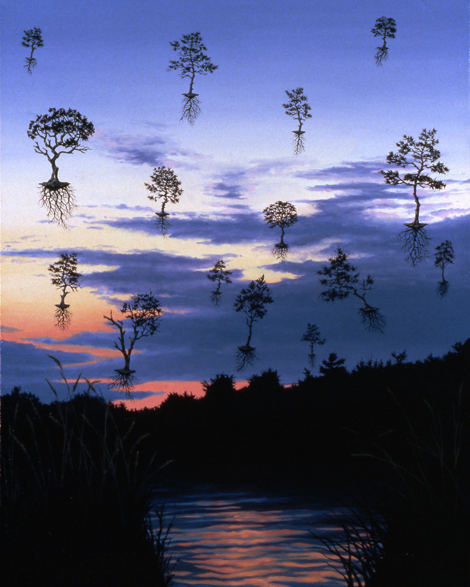"CJ Lori ,  Leaving Dennis at Dusk,  oil on canvas, 30"" x 24"", $3,500"