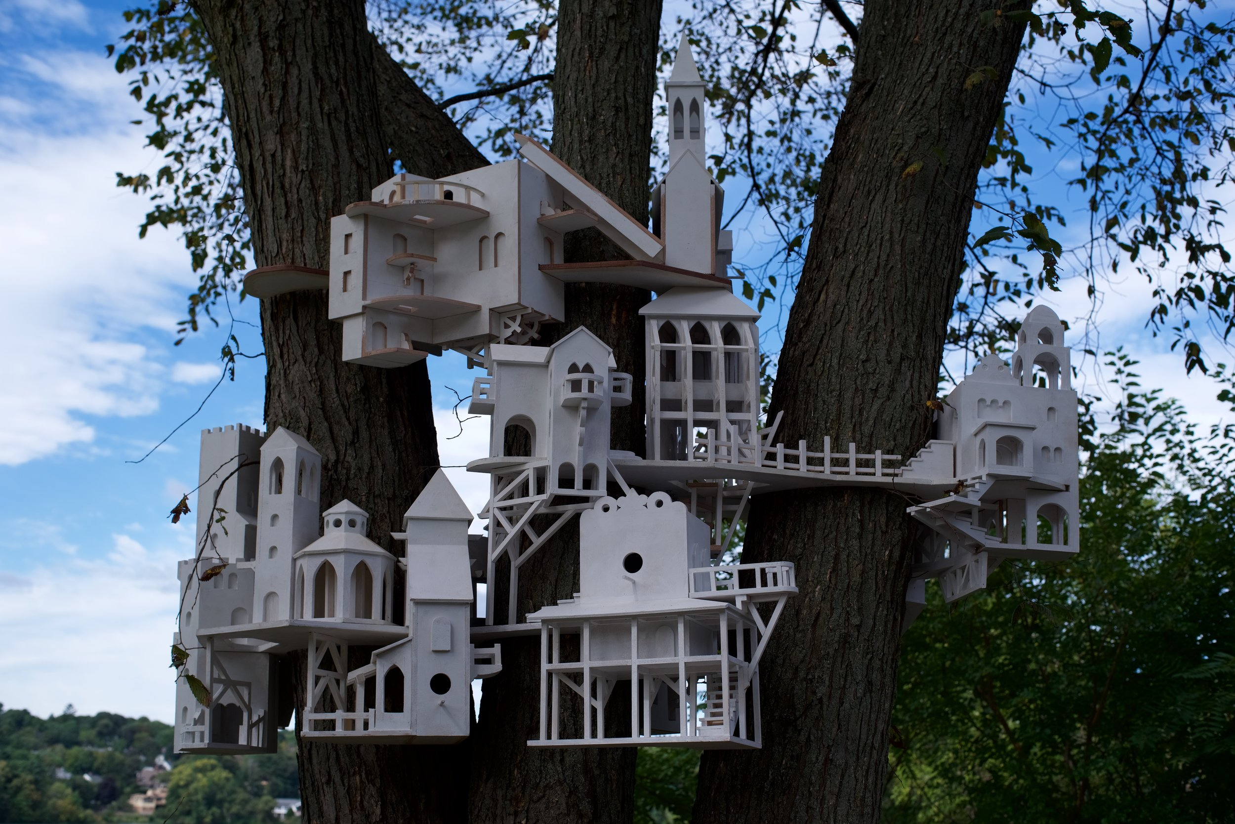 Christopher Frost,  Colony , painted wood. Photo credit: Lee Kilpatrick