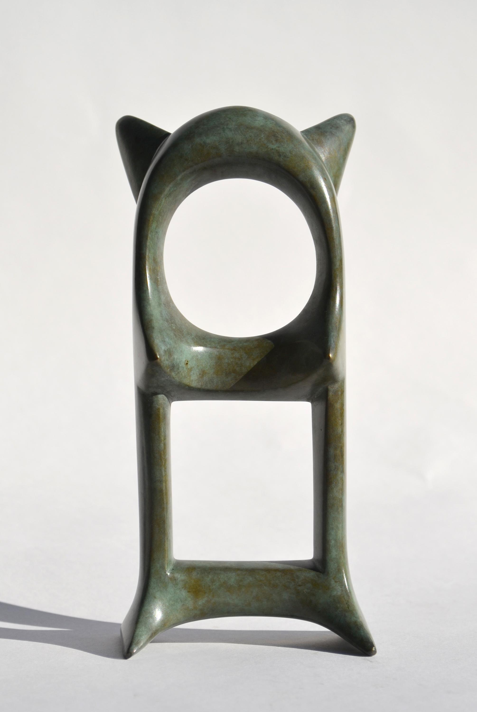 """Gaia , bronze, 7"""" x 3"""" x 1 3/4"""", $800"""