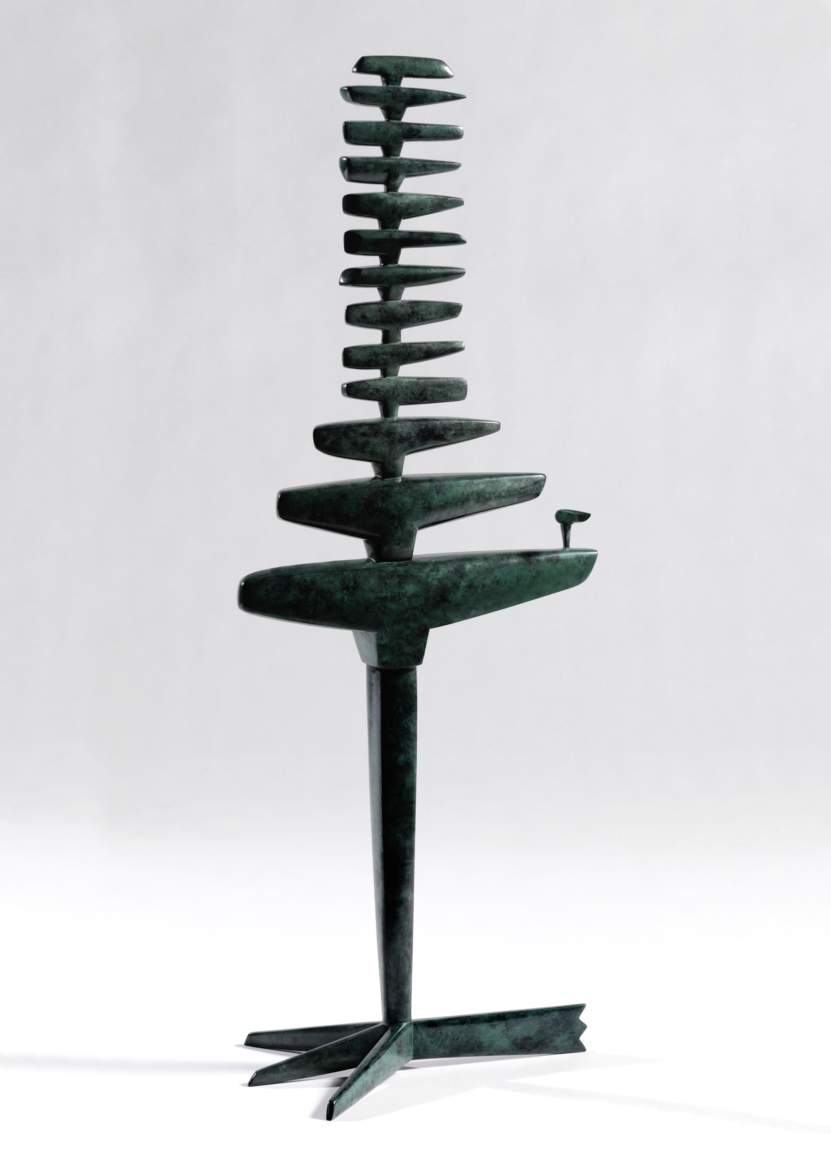 """Standing Murmuration (2/5) , bronze, 24 1/4"""" x 8 3/4"""" x 3 1/4"""", $4,500"""