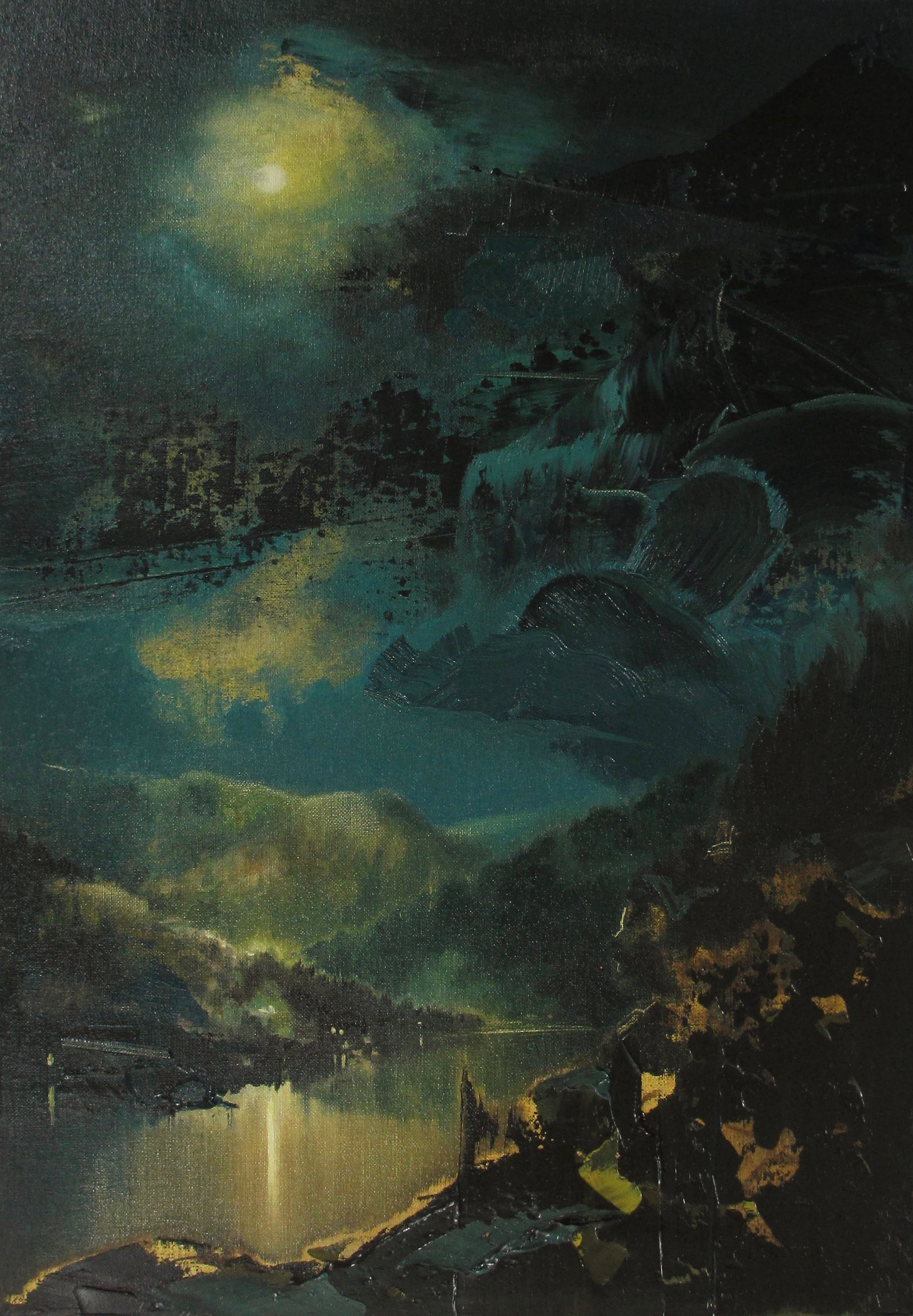 "Nocturne/River (1929) , oil on linen, 21"" x 15"" framed, $2,500"