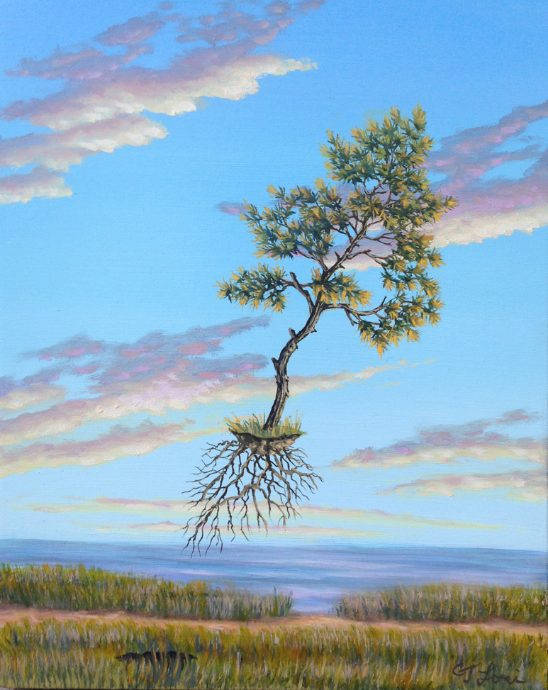 """Shore Leave , oil on panel, 10"""" x 8"""", $550"""
