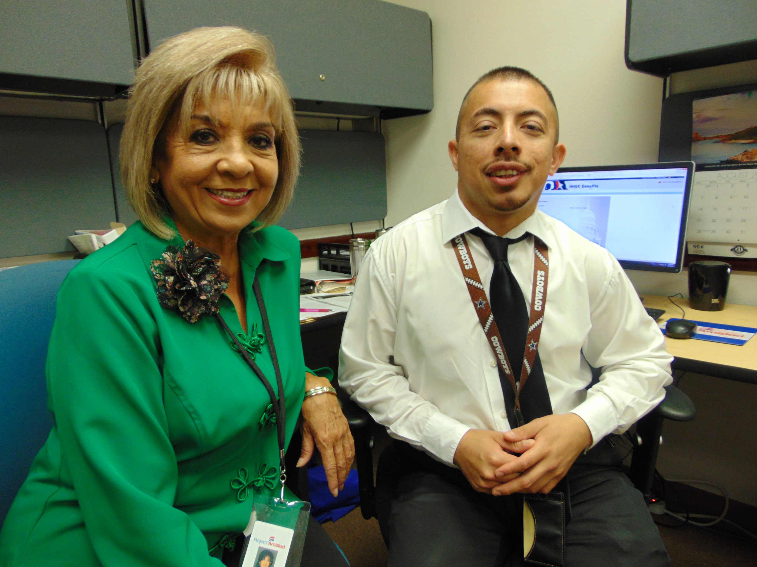 ADTRC Resource Coaches  Norma Iglesias  and  Jose Martinez.