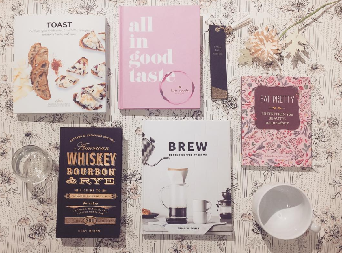 #giftguide  alert! With only two shopping weeks left until Christmas + Hanukkah, we know you'll be hurrying to find those last perfect items, and how can you ever go wrong with a beautifully thoughtful book? For the cuisine and beverage minded, our  #bookwormpicks  are pictured here!