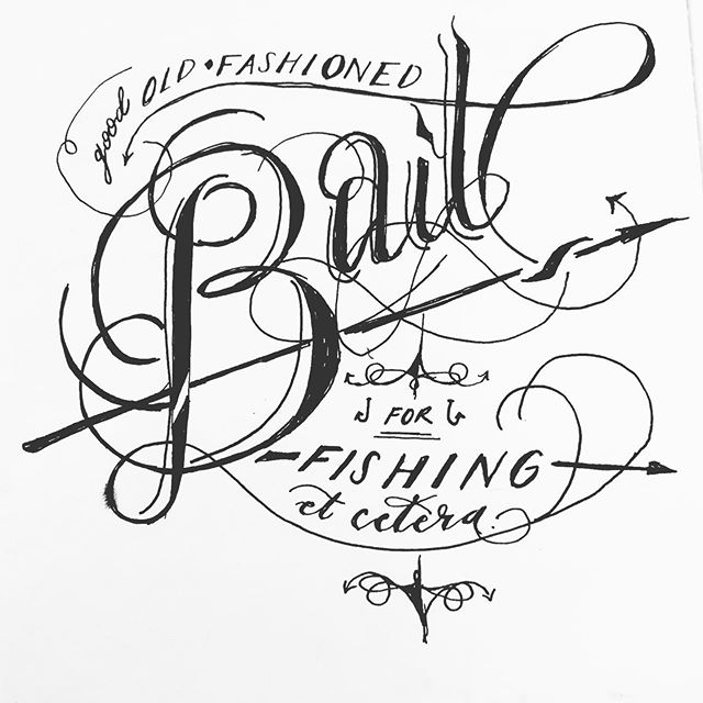 Delayed posts, but I've taken @inktober into a typographic realm because I am myself. #inktober #bait #freeze