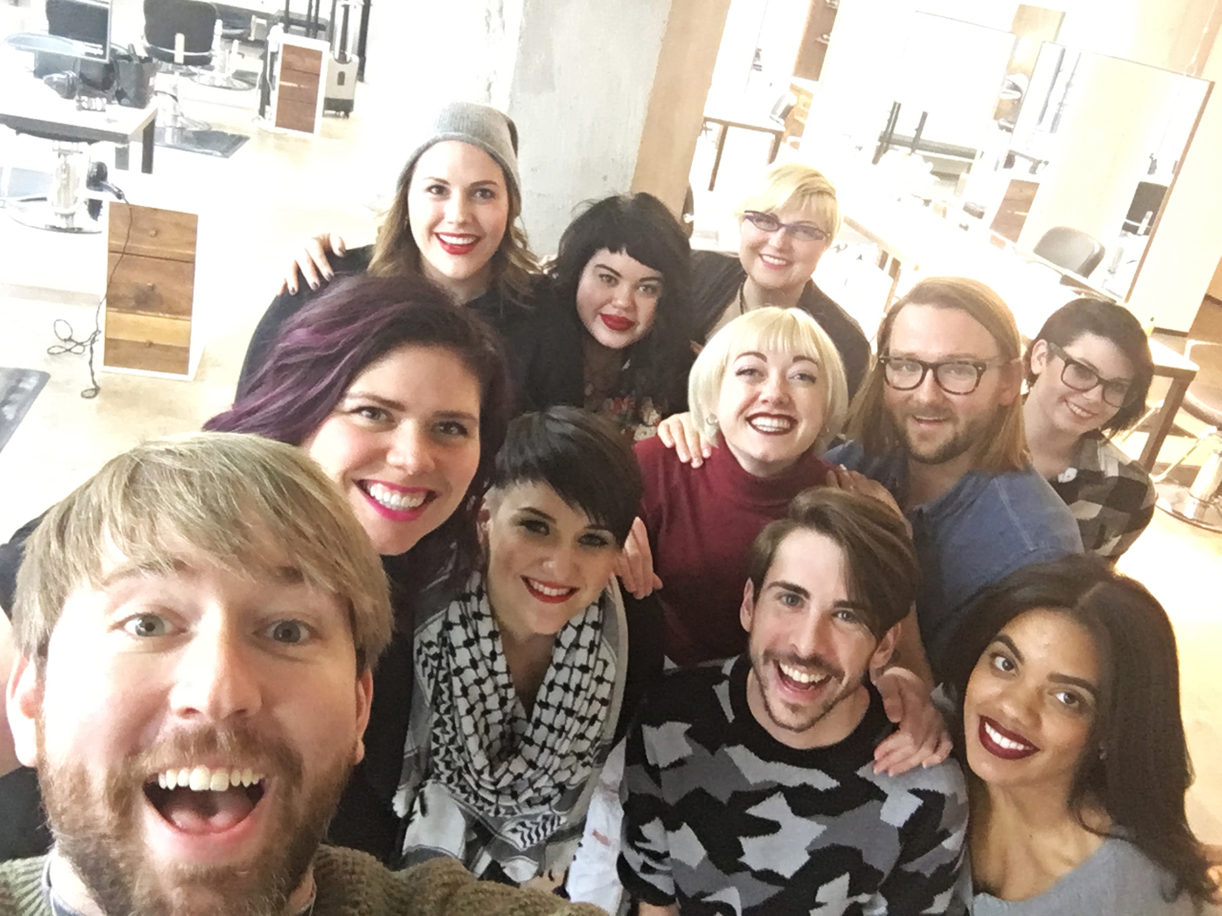Some of the HAUS Salon team who supported the cause by donating their services
