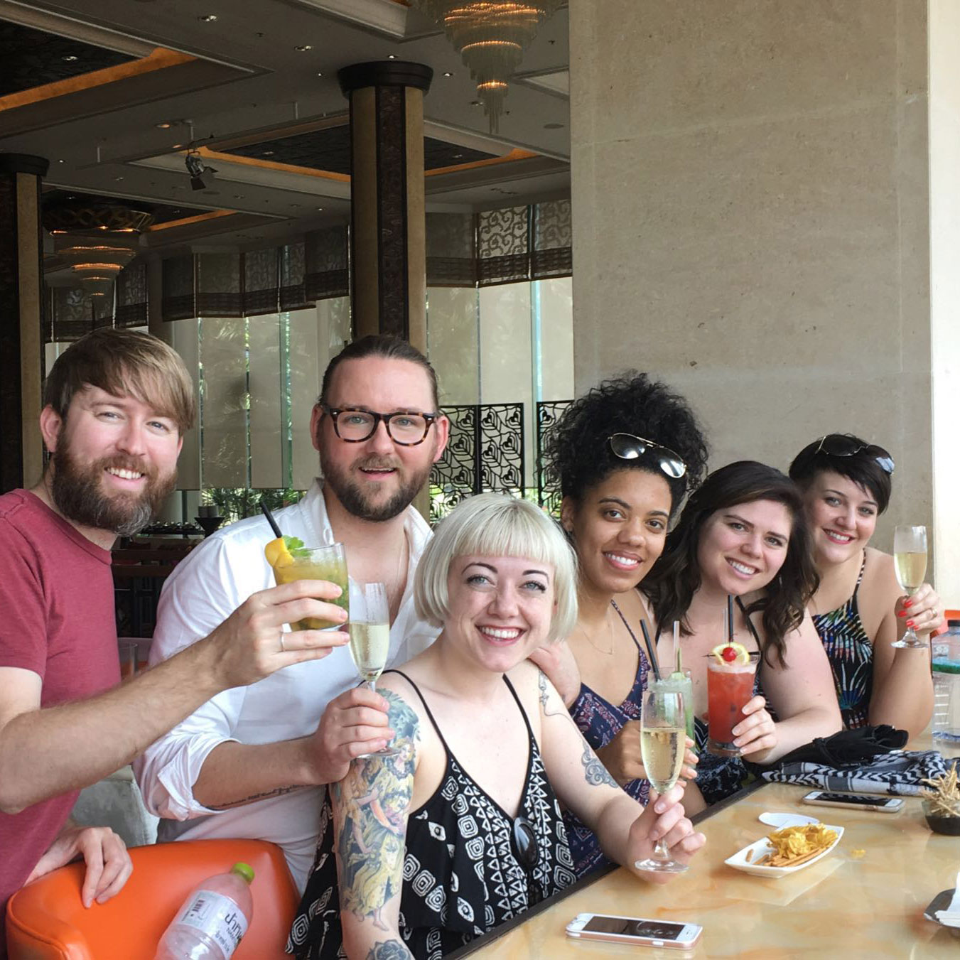 A toast for all of us back home from Brent, Charlie, Mackenzie, Nikki, Natalie and Reilly. Nikki celebrated her birthday in Thailand. Cheers!