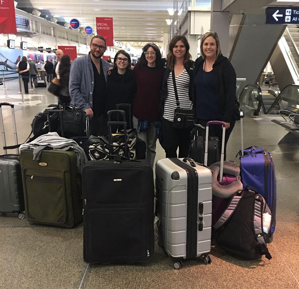 [ left to right: Charlie Brackney Love, Lindsey Barr, Sara Navratil, Natalie Hansen, and Mary Lucic ]