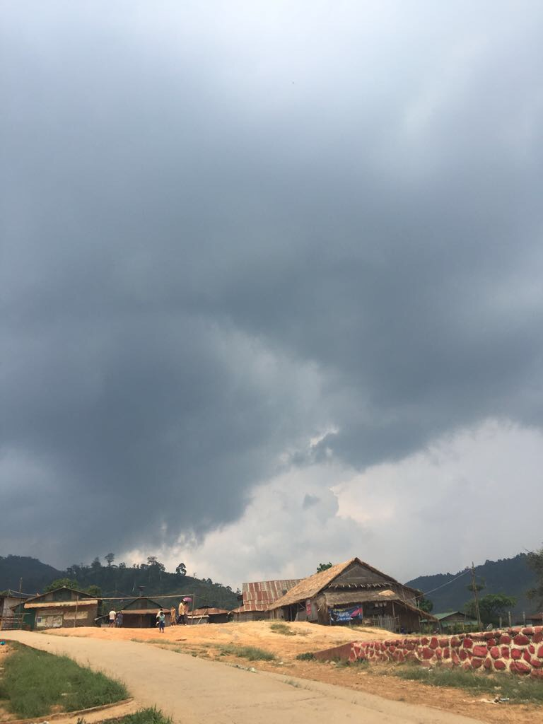 A storm blew in on the last day. The class told the team that the sky was crying because they were leaving.