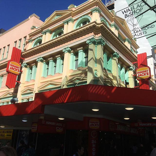 Brisbane has beautiful buildings (never mind the Hungry Jacks below)
