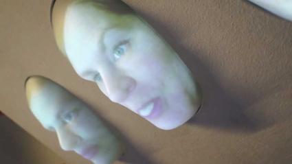 3D face projection (Deuchest Museum, 2012)