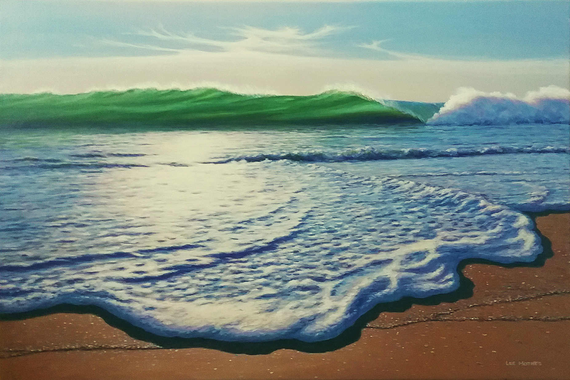 "Edge of the Desert, 24"" by 36"" acrylic on canvas (abvailble at Jill Logan Galeria, Todos Santos, Baja Califorinia)"