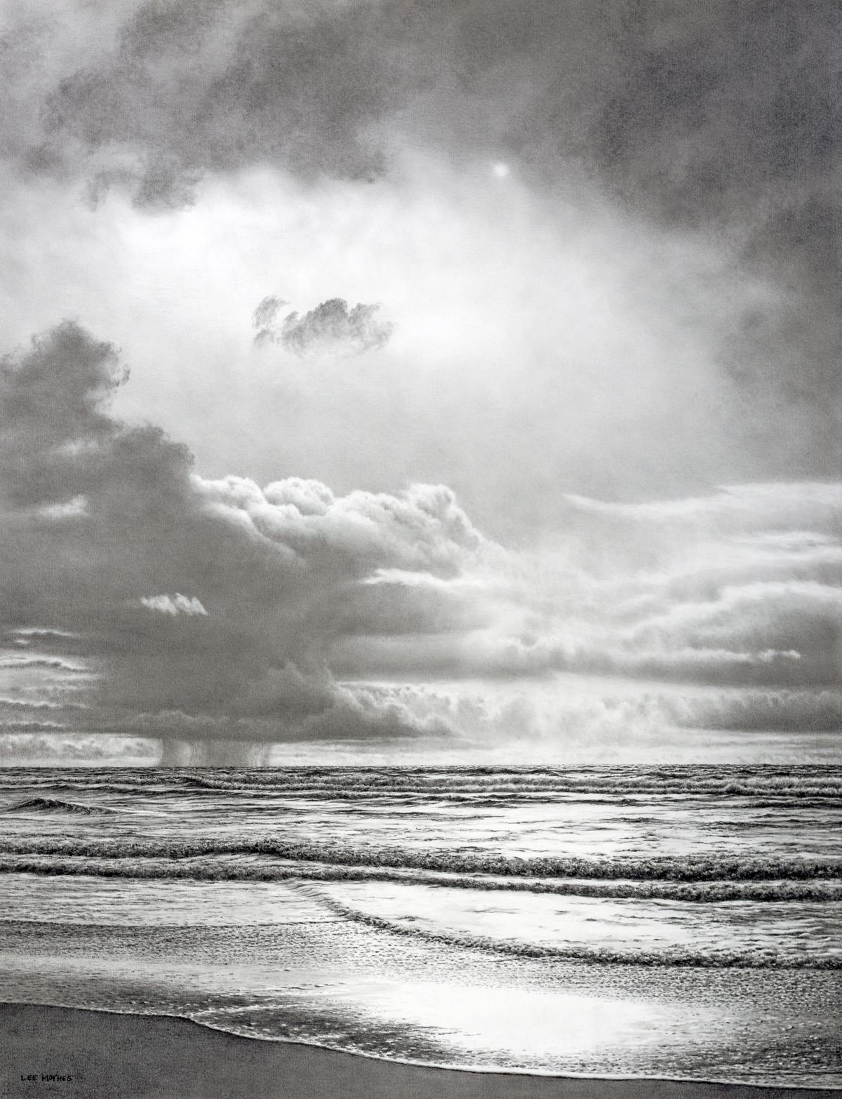 """Minor Squalls, 34"""" by 26"""" graphite pencil drawing (available)"""