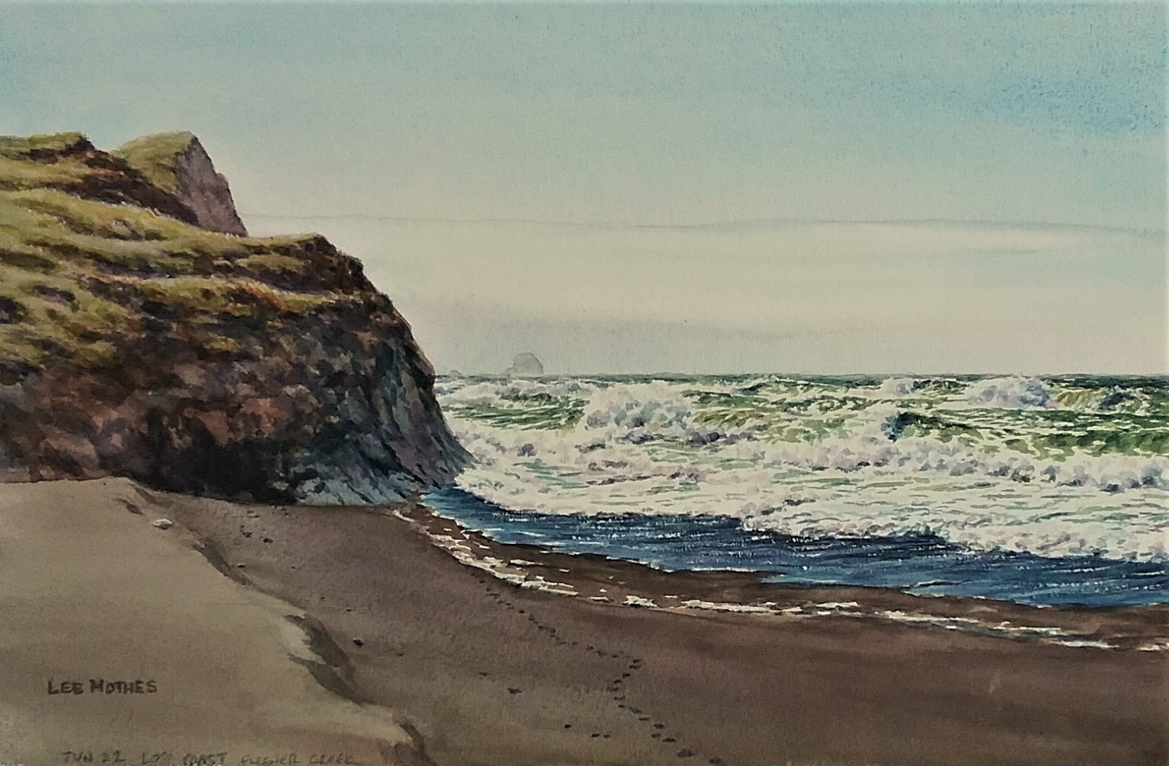 Rough surf at Fleener Creek, on the Lost Coast, in southern Humboldt County.