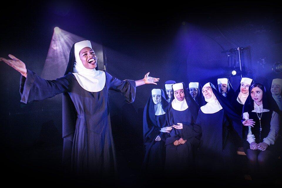 Sister Act the Musical, Vaults Theatre 2019, dir. Cameron Menzies.   Copyright Sheila Burnett Photography