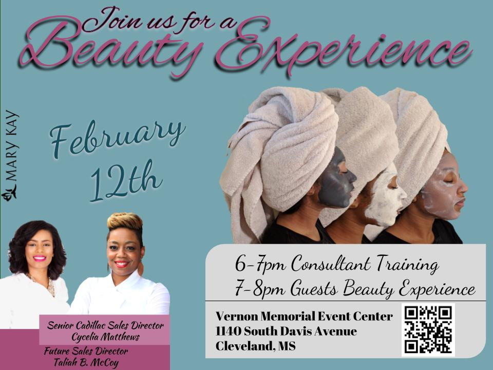 Beauty Experience Event Promotional Flyer-Original