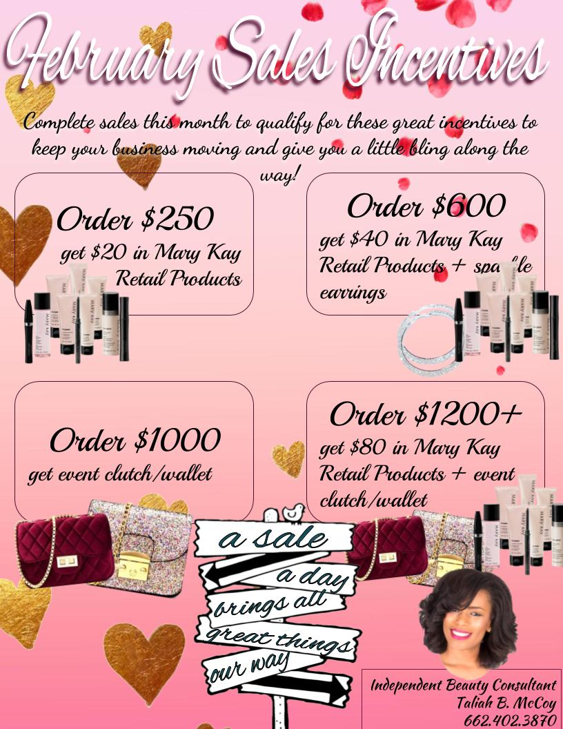 February Themed Team Incentive Flyer