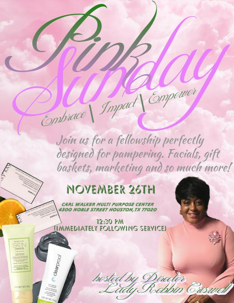 Pink Sunday Promotional Flyer