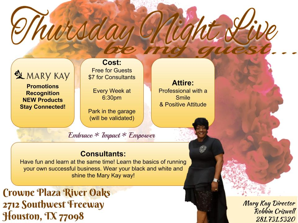 Thursday Night Live Promotional Flyer