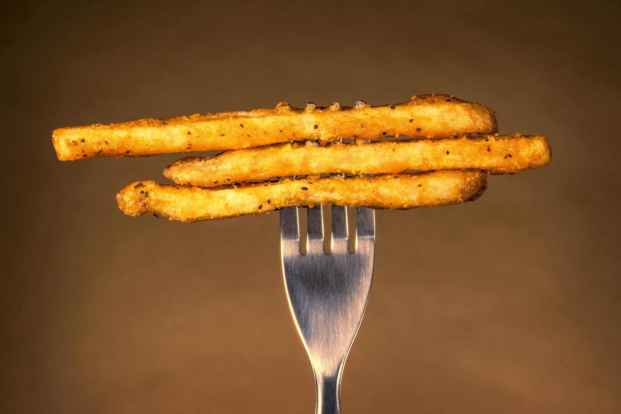 Chips on fork