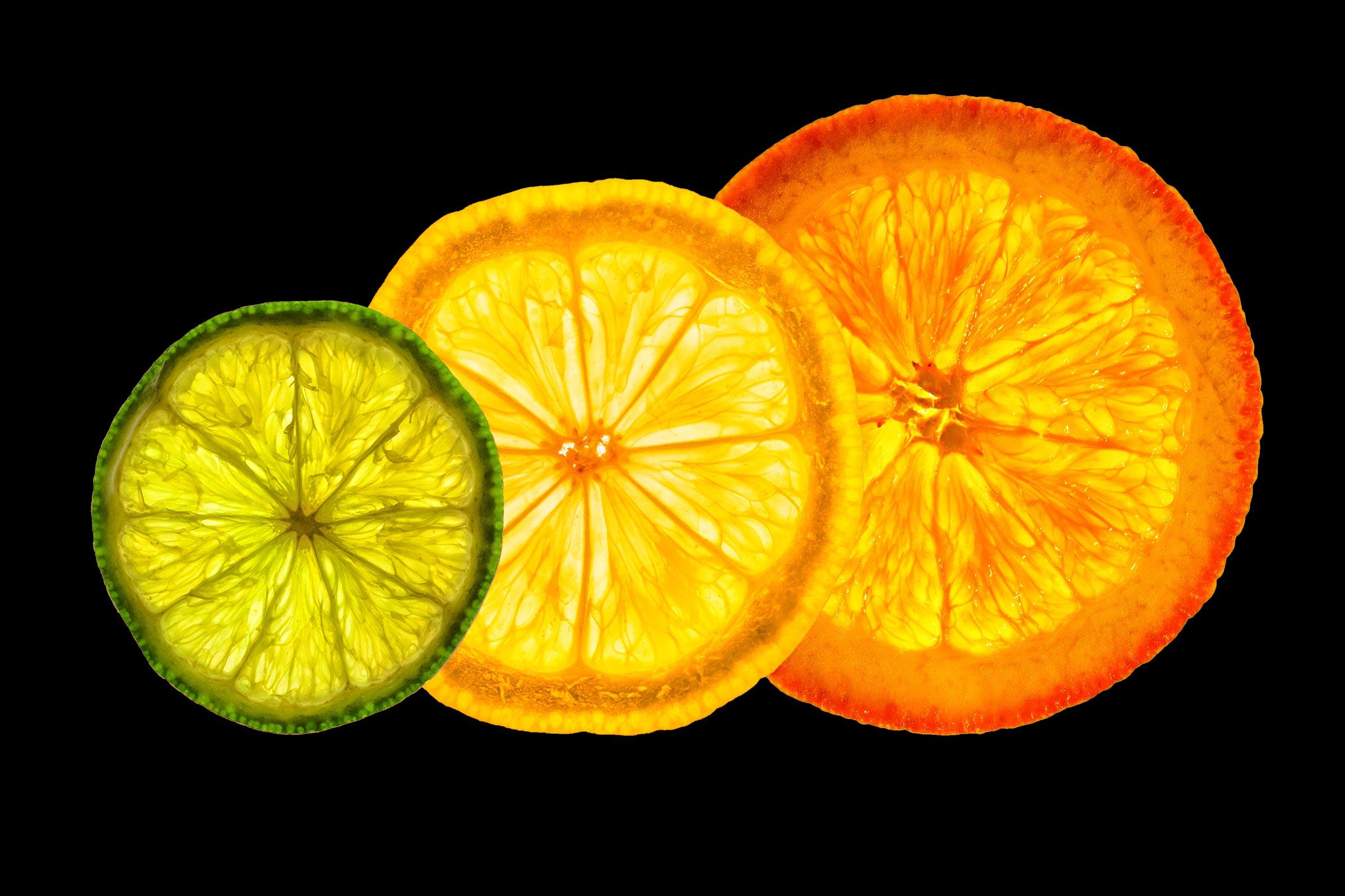 Fruit backlit