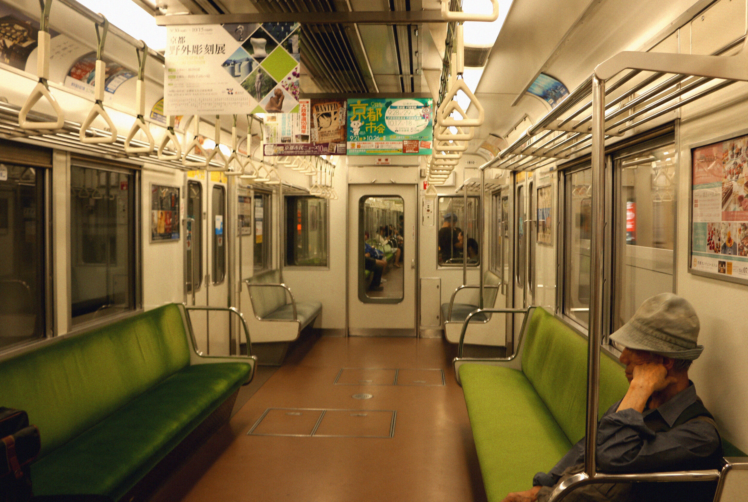 CLEANEST subways ever, hands down. If you are from NY, you know it's a no-no to get on the empty car, but in Japan they have the cleanest VELVET SEATS and the cars smell better than your dreams.