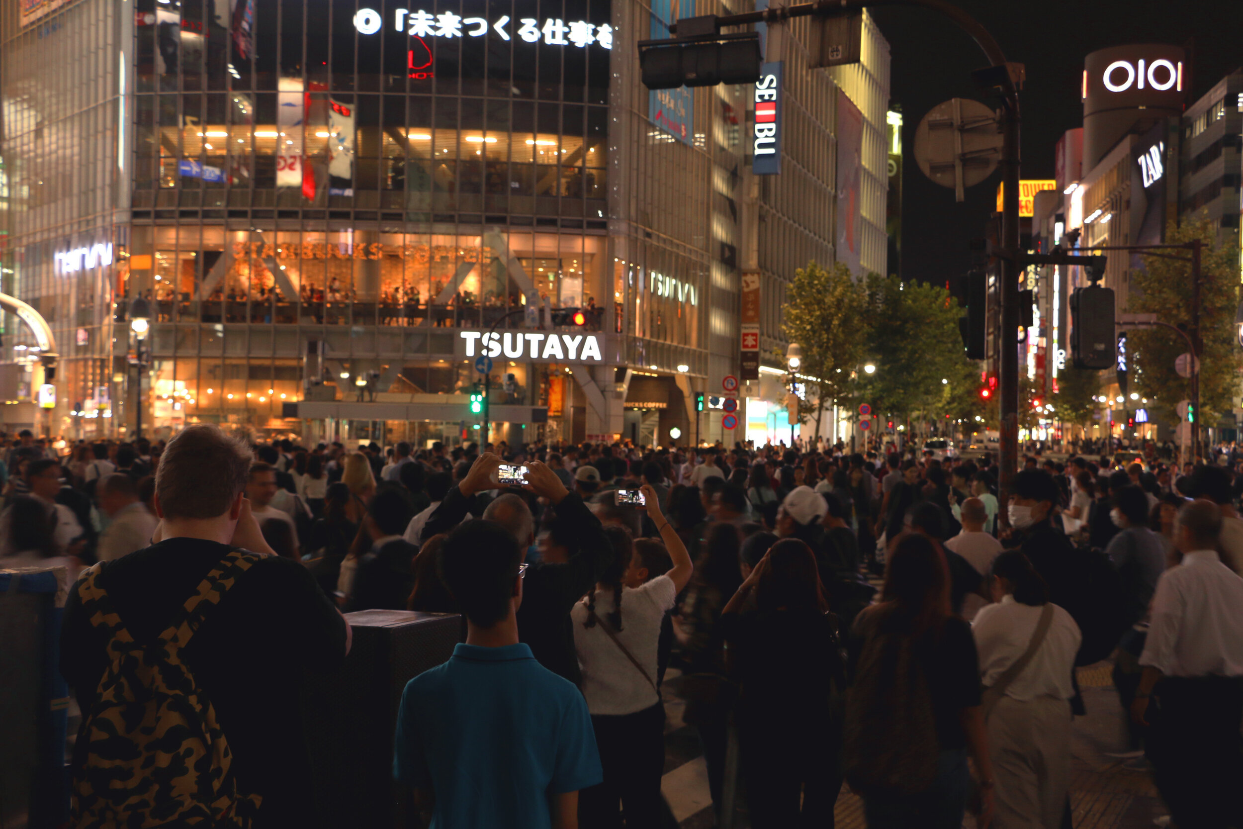 Shibuya Crossing, the busiest crossing in the world. It was INSANE.