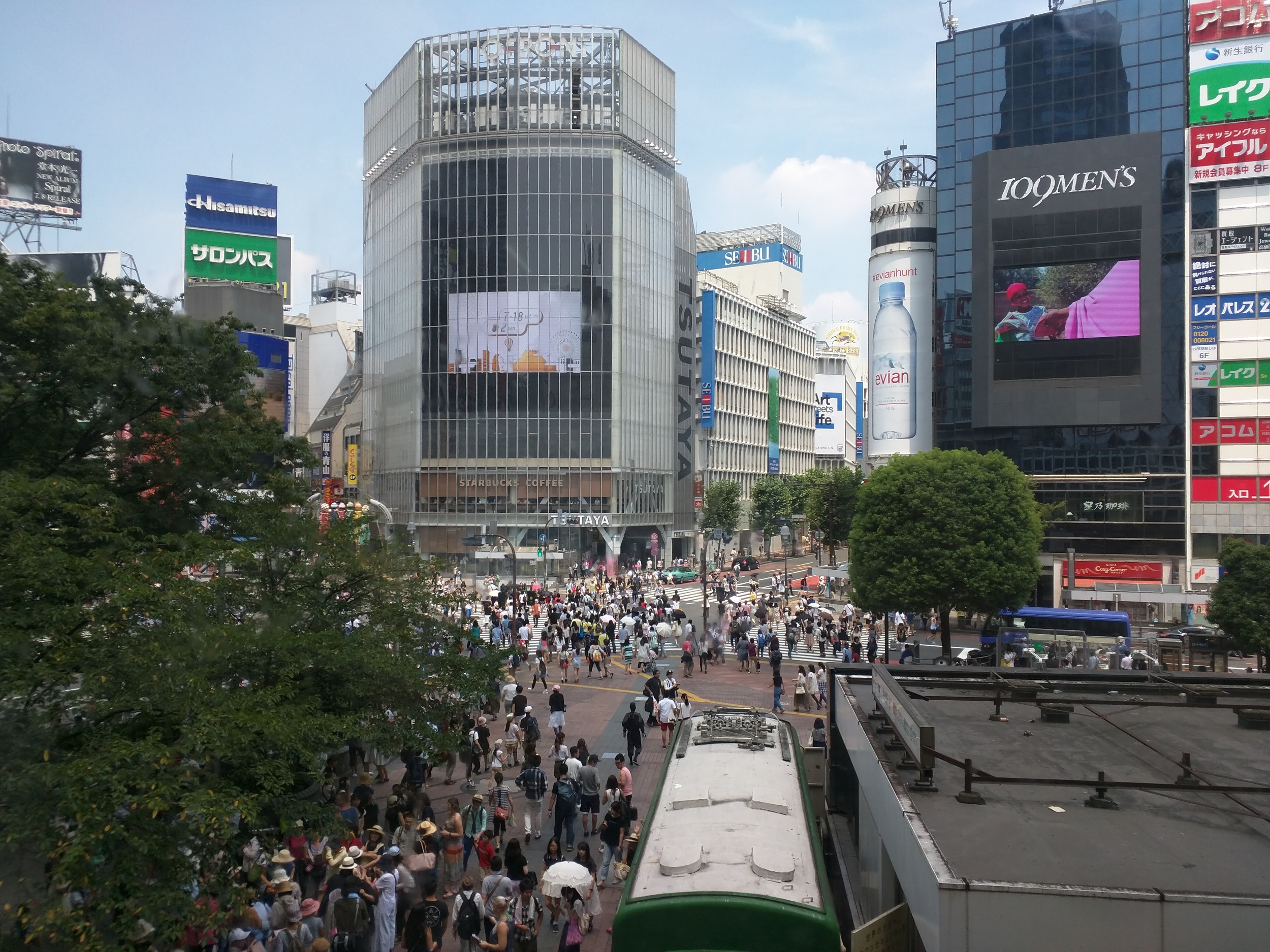 Shibuya Crossing - on peak days you can't see the street for all the people