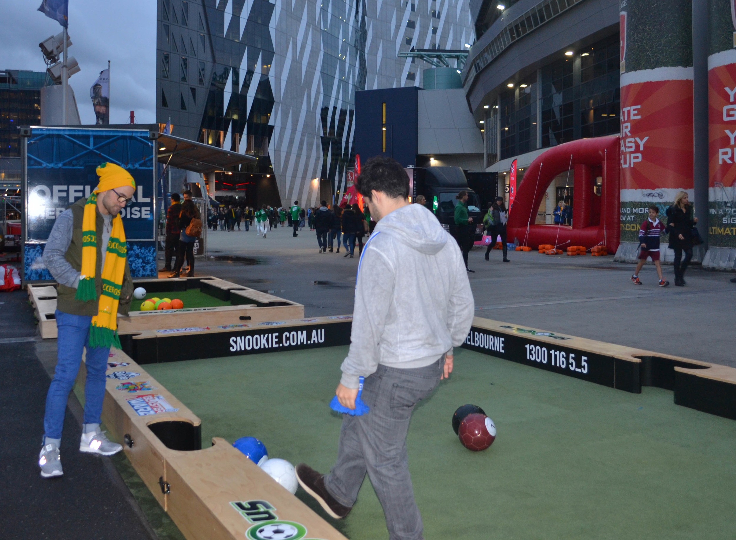 Soccer Pool Table featured pre-game at Etihad Stadium in Melbourne.