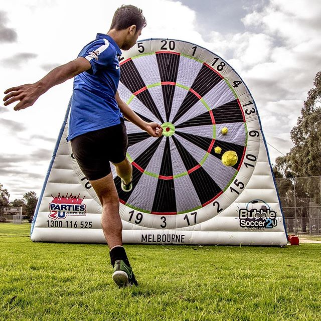 Welcome to Melbourne! #soccerdarts #footdarts #footballdarts #melbourne #parties2u #bubblesoccer2u #bubblesoccermelbourne #futsal #soccer #football #footy #localfooty #footydarts #darts #cricketdarts #melbournelife #melbourneeats #melbournefood