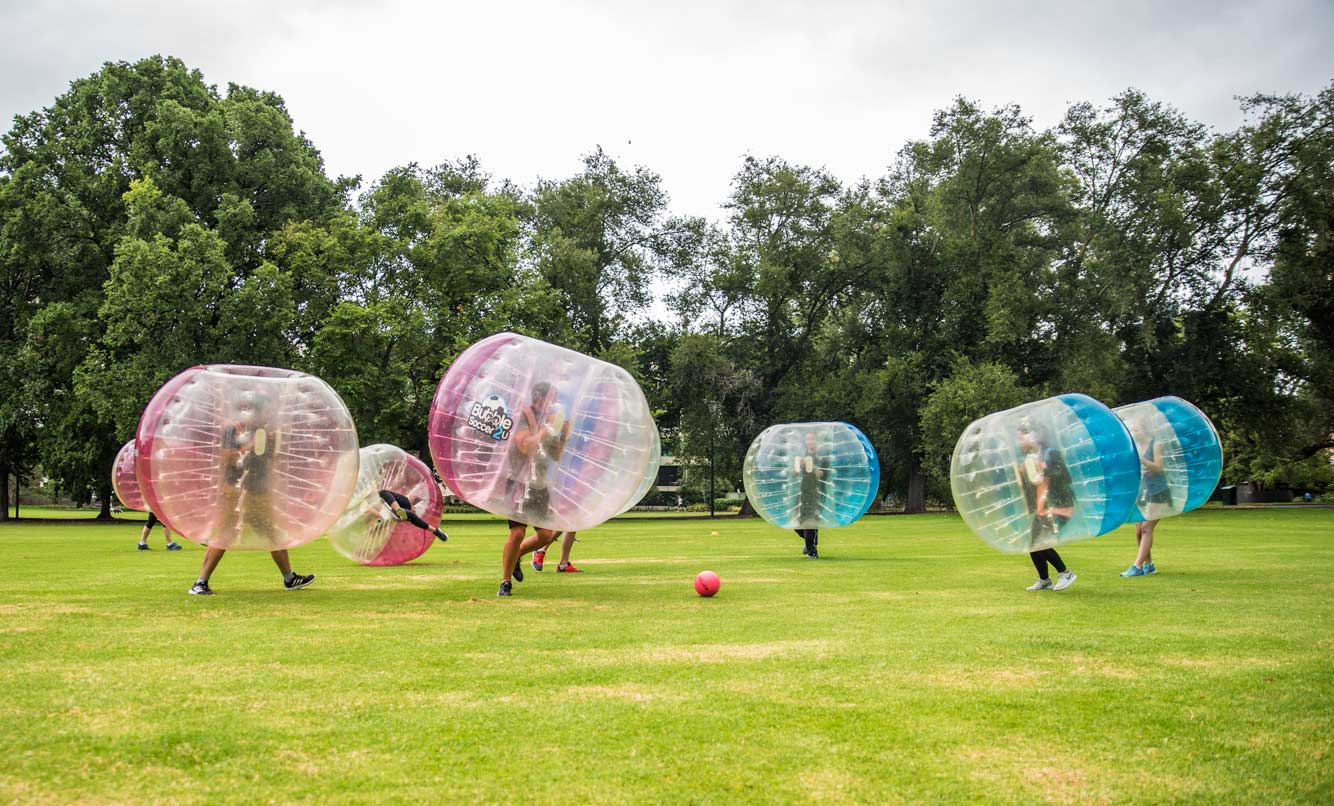 Outdoor Bubble Soccer - Fawkner Park, Victoria