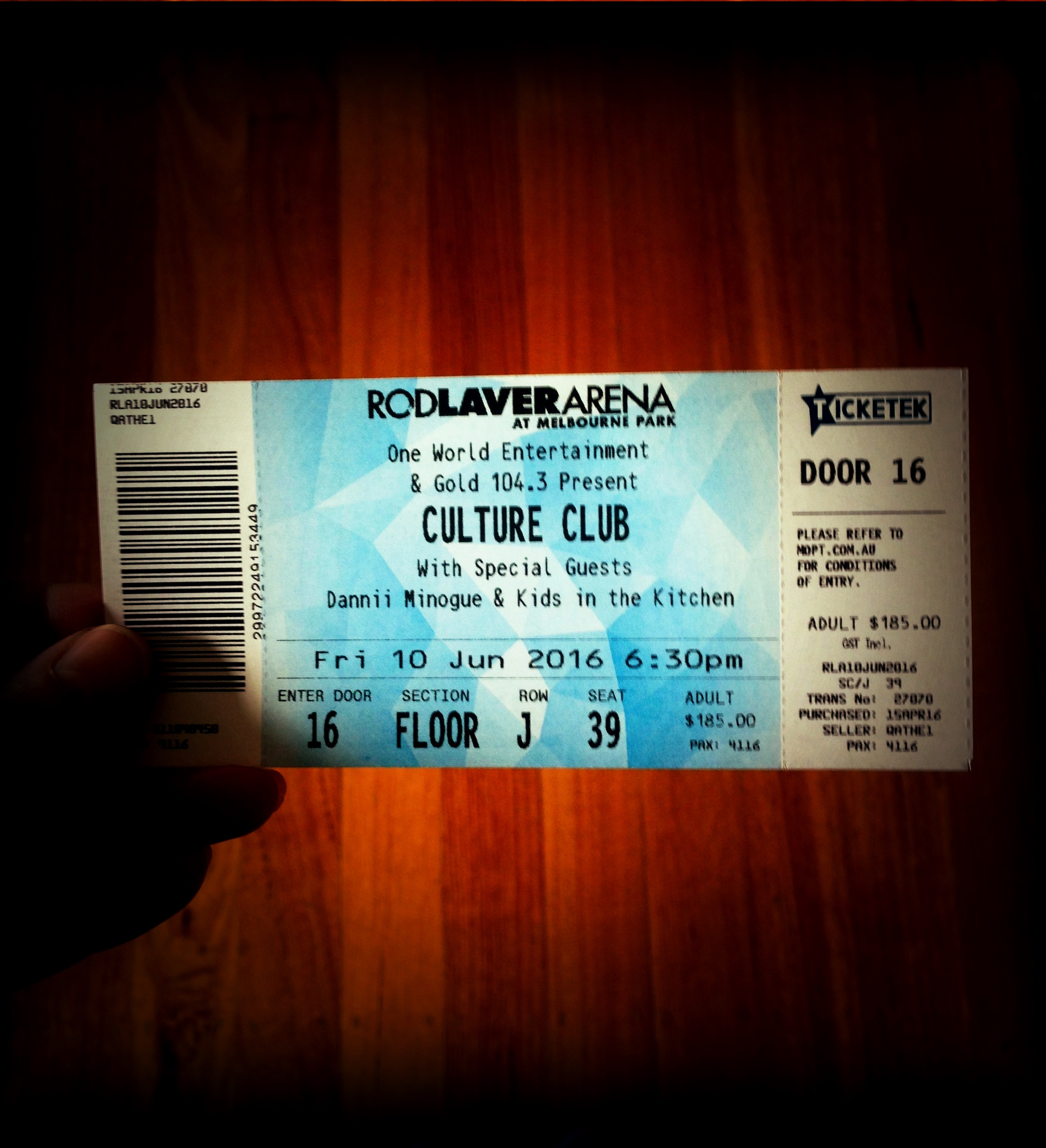 Dreams came true with this magical ticket to Culture Club