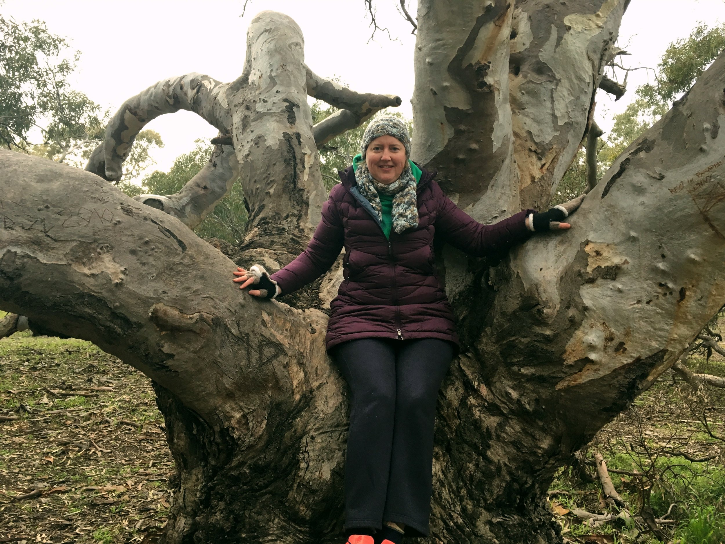 EMMA-JANE AT THE TREE