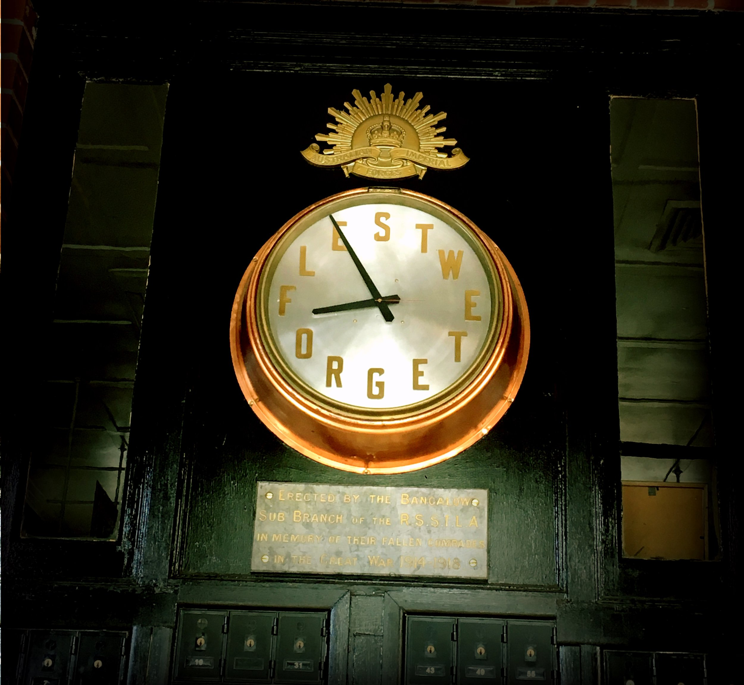 CLOCK IN BANGALOW, NEW South Wales, AUSTRALIA
