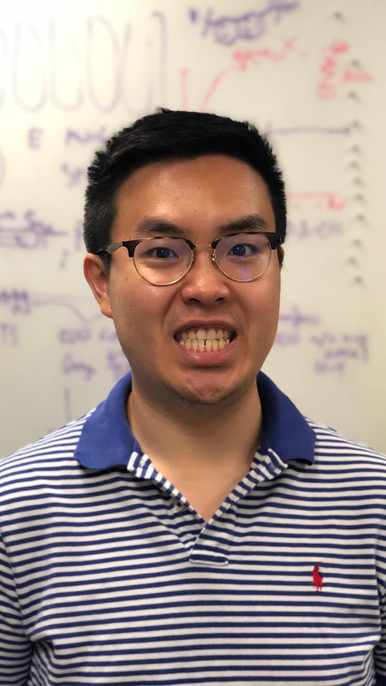 "Name: Dan Park Nickname: Woojeezy, DanoString Year Joined BCM: 2017 Height: In reality I'm 5'8, stand on my money now I'm 5'8.5 Position: Graduate Student Alma Mater: Dartmouth College Hometown: Manhattan, KS Hobbies: Hearthstone, Tennis, Pup Fostering Special Power: Becoming the human version of the Grimace Face Emoji Favorite Drink: Tom Collins Favorite Restaurant: Korean Garden in Kansas Quote: ""Real G's move in silence like lasagna"" – Weezy What you are working on: Utilizing small molecule inhibitors to decipher the transcriptional CDK axis and potentially develop novel cancer therapies"