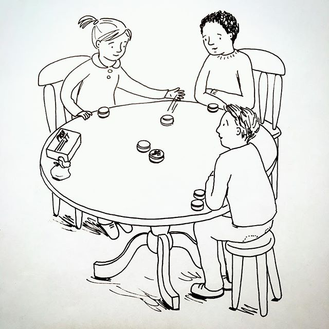 Just found this lovely illustration we had done. Got to get the colouring pencils out!!! #illustration #family #game #tabletop