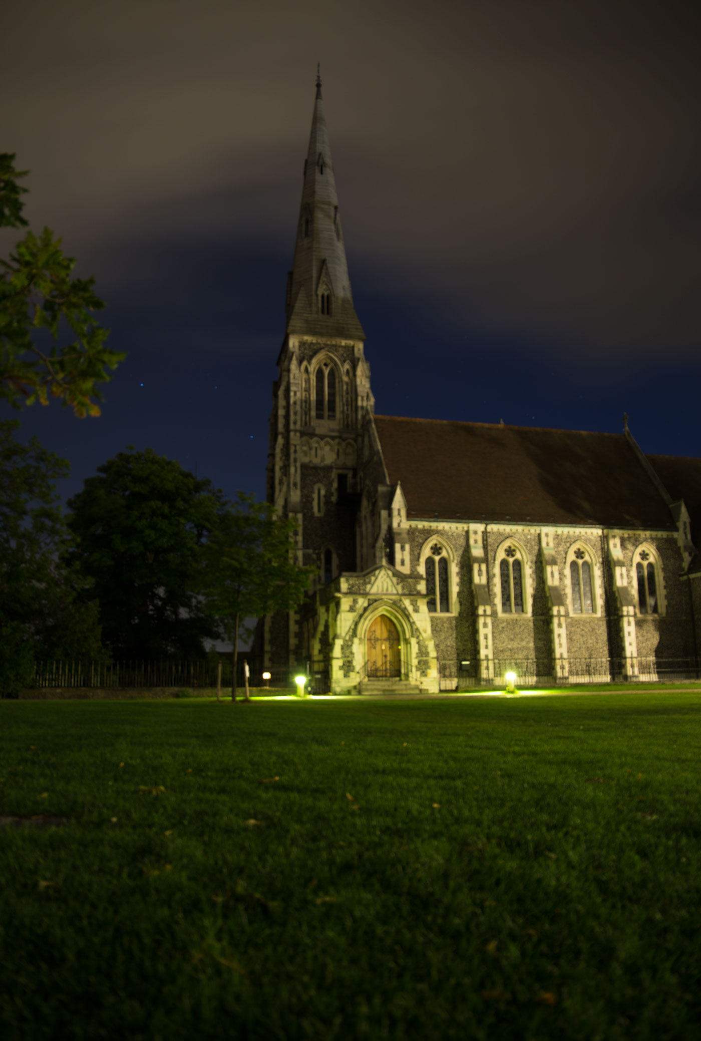 Night Photography of the impressive St. Alban's Church