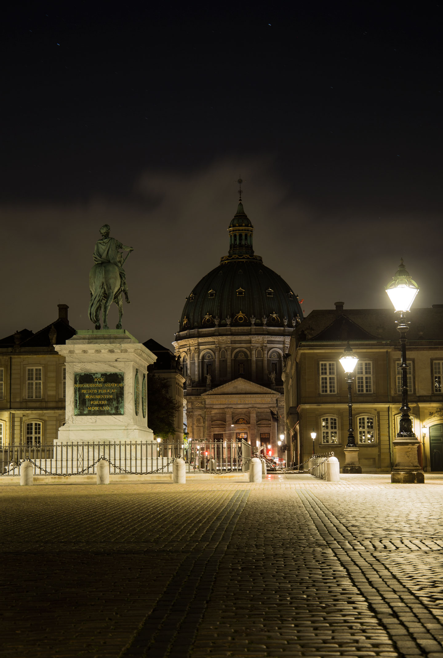 Frederik's Church or Marble Church from Amalienborg