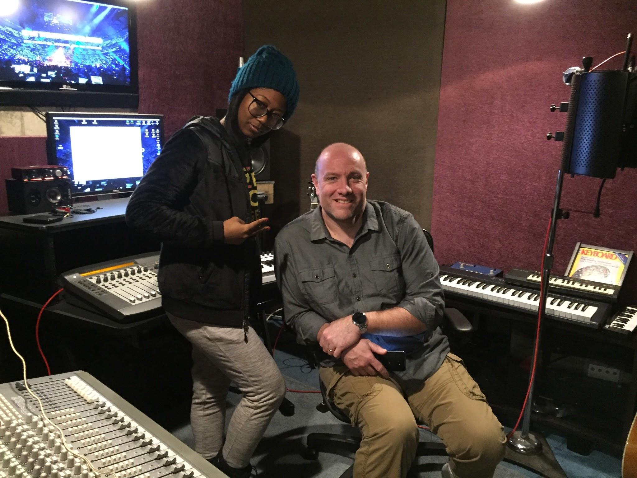 Tracking vocal for Sharon Iriving's record, Bennett Ave.