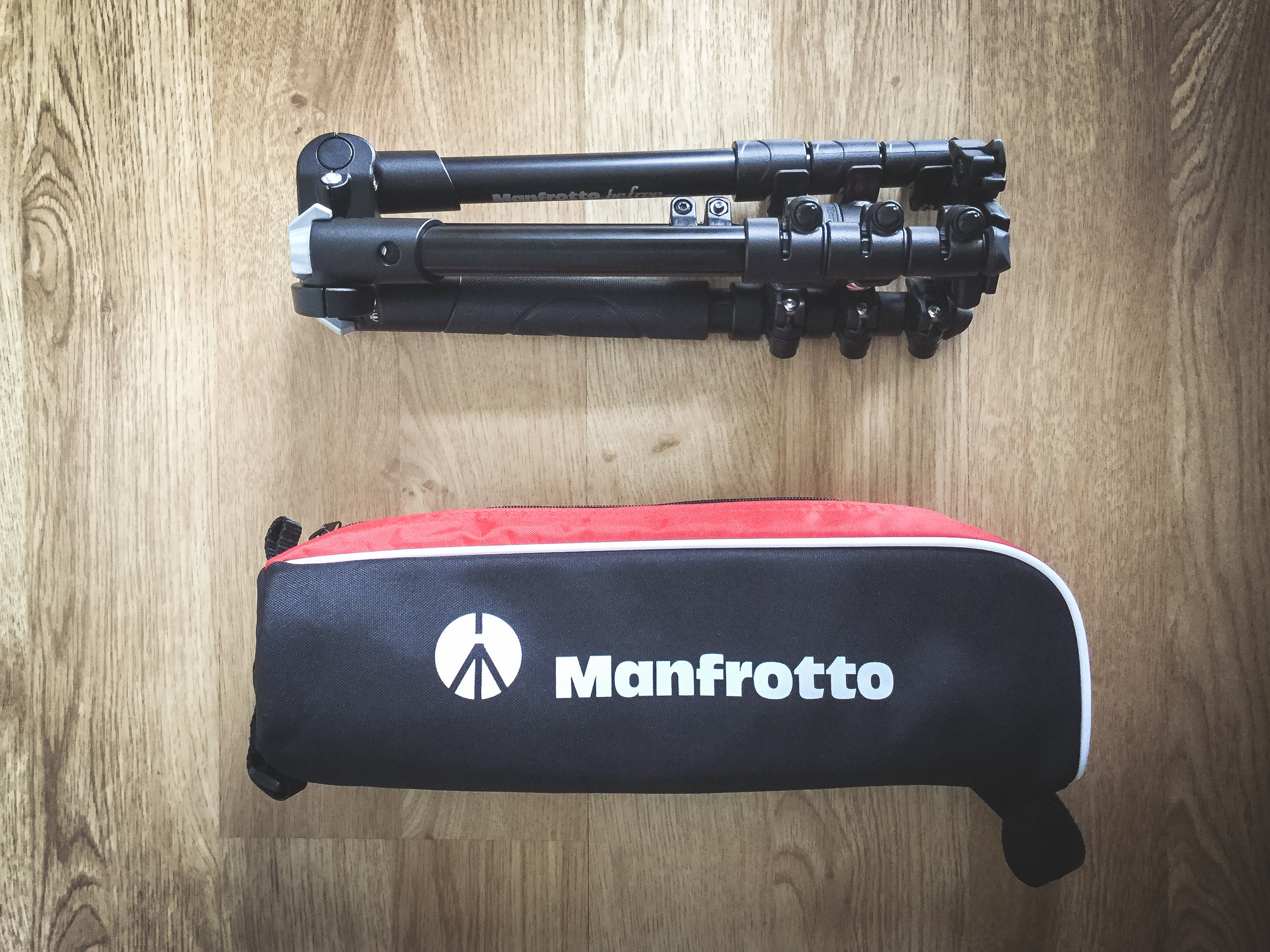 Manfrotto BeFree One - This is a pretty new item in my bag. Over the years I had many occasion when I wished I had brought a good quality tripod. This one easily fits in the side of my backpack. Also doubles as a light-stand and comes with a handy little carrier bag.