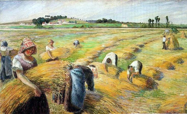 La Moisson | Camille Pissarro | 1882 | Public Domain